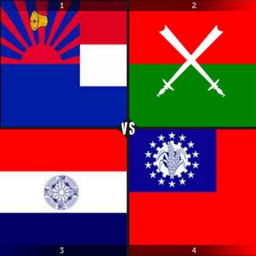 Burmese hill tribe flags